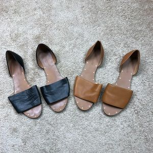 Madewell Sandals 2 Pairs black brown size 8